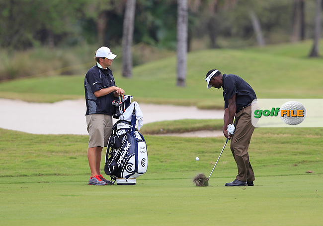 Vijay Singh (FIJ) in action during Wednesday's Practice Day of the WGC Cadillac Championship at TPC Blue Monster, Doral Golf Resort & Spa, Miami Florida, 7th March 2012 (Photo Eoin Clarke/www.golffile.ie)