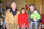 BAZZAR TIME: Having great time at the Ballymac Bazzar at the St Brendan's community centre, Ballymac on Sunday l-r: Bob Fitzgerald, Florence Ahern, Mike Bolger and Cian Bolger.