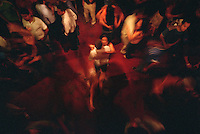 Dancers spin to forró music at the Sala de Reboco dance hall in Recife, Brazil, Thursday, Jan. 12, 2006. (Kevin Moloney for the New York Times)