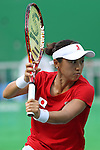 Misaki Doi (JPN), <br /> AUGUST 8, 2016 - Tennis : <br /> Women's Singles Second Round <br /> at Olympic Tennis Centre <br /> during the Rio 2016 Olympic Games in Rio de Janeiro, Brazil. <br /> (Photo by Koji Aoki/AFLO SPORT)