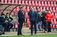Wycombe Wanderers Manager Gareth Ainsworth chats to Chairman Andrew Howard before the Sky Bet League 2 match between Leyton Orient and Wycombe Wanderers at the Matchroom Stadium, London, England on 1 April 2017. Photo by Andy Rowland.