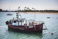 Fishing boat in Whakatane Harbour, Bay of Plenty, North Island, New Zealand