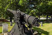 Historically, artillery in a New England graveyard