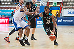 Estudiantes Omar Cook and Rosa Radom Kevin Punter during Basketball Champions League between Estudiantes and Rosa Radom at Jorge Garbajosa Sport Center in Madrid, Spain October 18, 2017. (ALTERPHOTOS/Borja B.Hojas)