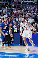 Real Madrid's Rudy Fernández and Khimki Moscow's Tyler Honeycutt during Euroleague match at Barclaycard Center in Madrid. April 07, 2016. (ALTERPHOTOS/Borja B.Hojas) /NortePhoto