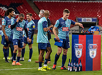 Wycombe Wanderers' David Wheeler collects his winners medal <br /> <br /> Photographer Andrew Kearns/CameraSport<br /> <br /> Sky Bet League One Play Off Final - Oxford United v Wycombe Wanderers - Monday July 13th 2020 - Wembley Stadium - London<br /> <br /> World Copyright © 2020 CameraSport. All rights reserved. 43 Linden Ave. Countesthorpe. Leicester. England. LE8 5PG - Tel: +44 (0) 116 277 4147 - admin@camerasport.com - www.camerasport.com