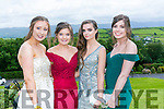 Enjoying the Colaiste na Sceilge Debutante Ball at Ballyroe Heights Hotel on Tuesday were l-r  Kate Sugrue, Caitlyn O'Neill, Amy Sugrue and Fiona O'Mahony.