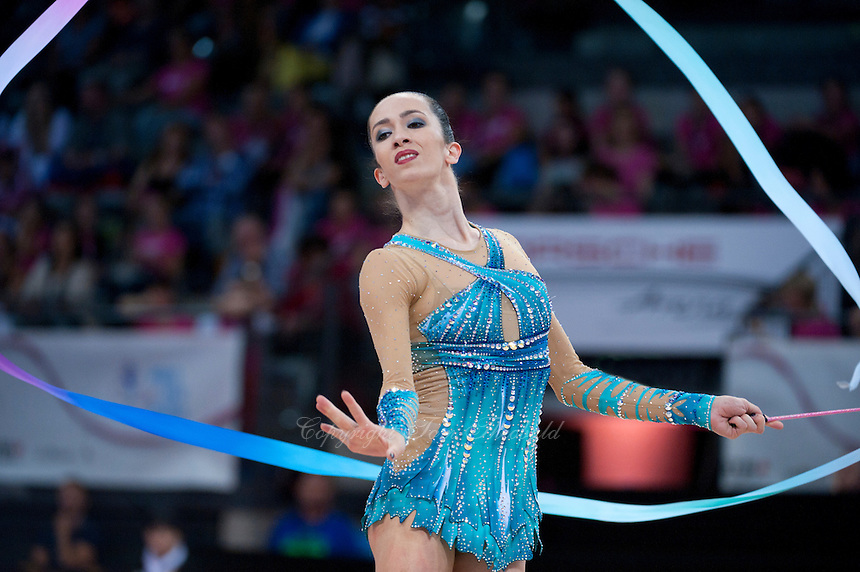 September 11, 2015 - Stuttgart, Germany -  NITA RIVKIN of Israel performs during AA qualifications at 2015 World Championships.