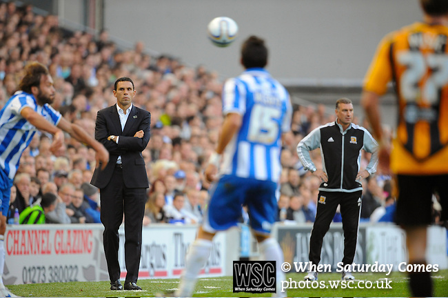 Brighton and Hove Albion 0 Hull City 0, 15/10/2011. Amex Stadium, Championship. Photo by Simon Gill.