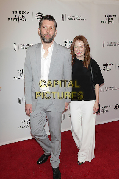 NEW YORK, NEW YORK - APRIL 15: Bart Freundlich and Julianne Moore at the World Premiere of 'Wolves'during the 2016 Tribeca Film Festival at SVA Teather on April 15, 2016 in New York City. <br /> CAP/MPI99<br /> &copy;MPI99/Capital Pictures