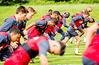 Wednesday 26 July 2017<br /> Pictured: Swansea players during training <br /> Re: Swansea City FC Training session takes place at the Fairwood Training Ground, Swansea, Wales, UK