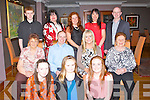 HAPPY BIRTHDAY: Happy birthday LA Carte dinner was held in the Ballygarry House Hotel & Spa, Tralee on Sunday night as the family of Catriona Browne Scartaglin treated her to dinner to mark her 30th birthday. Front kneeling, l-r: Katie Horan, Lisa and Amy Browne. Seated l-r: Maureen Barry, Dan, Catriona (birthday lady), and Joan Browne. Back l-r: Timmy, Joan, Tessie, Eileen and Sean Browne. (Scartaglin).....