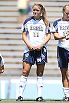 28 August 2011: Notre Dame's Sammy Scofield. The Duke University Blue Devils defeated the Fighting Irish of Notre Dame 3-1 at Fetzer Field in Chapel Hill, North Carolina in an NCAA Women's Soccer game.