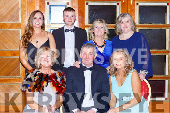 Enjoying the Kerry Hunt ball in the Killarney Avenue Hotel on Saturday night front row l-r: Joan and Charlie Culinane, Marie McEllistrim. Back row: Amanda McSweeney, James McEllistrim, Vera Sugrue and Rose Cotter