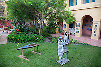 Art Displayed in Courtyard, Biannual Arts Festival, Goree Island, Senegal