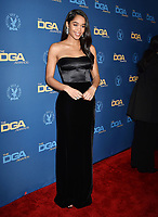 HOLLYWOOD, CA - FEBRUARY 02: Laura Harrier attends the 71st Annual Directors Guild Of America Awards at The Ray Dolby Ballroom at Hollywood &amp; Highland Center on February 02, 2019 in Hollywood, California.<br /> CAP/ROT/TM<br /> &copy;TM/ROT/Capital Pictures