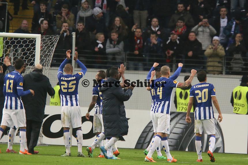 Porto feiert - Eintracht Frankfurt vs. FC Porto, UEFA Europa League Achtelfinale, Commerzbank Arena