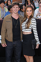 "WESTWOOD, LOS ANGELES, CA, USA - MARCH 18: Matt Lanter, Angela Stacy at the World Premiere Of Summit Entertainment's ""Divergent"" held at the Regency Bruin Theatre on March 18, 2014 in Westwood, Los Angeles, California, United States. (Photo by Xavier Collin/Celebrity Monitor)"