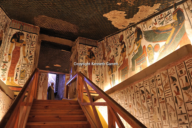 Zahi Hawass Secret Egypt Travel Guide; Egypt; archaeology; Luxor; West Bank; Valley of the Queens; Tomb of Nefertari,New Kingdom; wife of Ramses II; Ramesses the Great, goddess, Isis, Nephthys, winged Ma'at