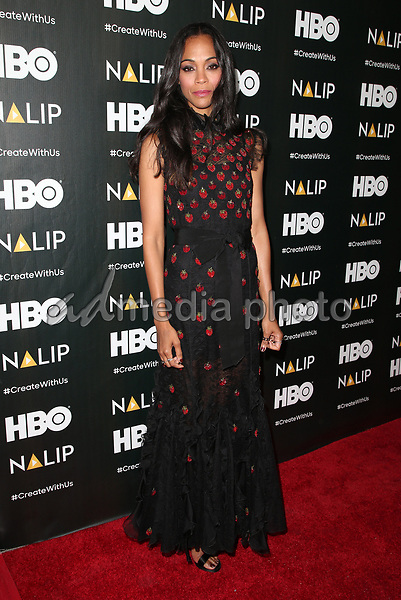 24 June 2017 - Hollywood, California - Zoe Saldana. 2017 NALIP Latino Media Awards held at W Hollywood. Photo Credit: F. Sadou/AdMedia