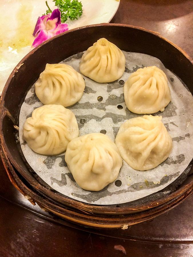 Dumplings for Lunch, Nanxiang Dumpling Restaurant, Yuyuan Garden, Shanghai.