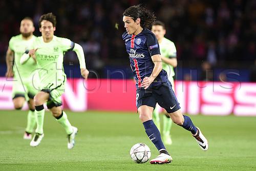 06.04.2016. Paris, France. UEFA CHampions League, quarter-final. Paris St Germain versus Manchester City.  Edinson Cavani (PSG)