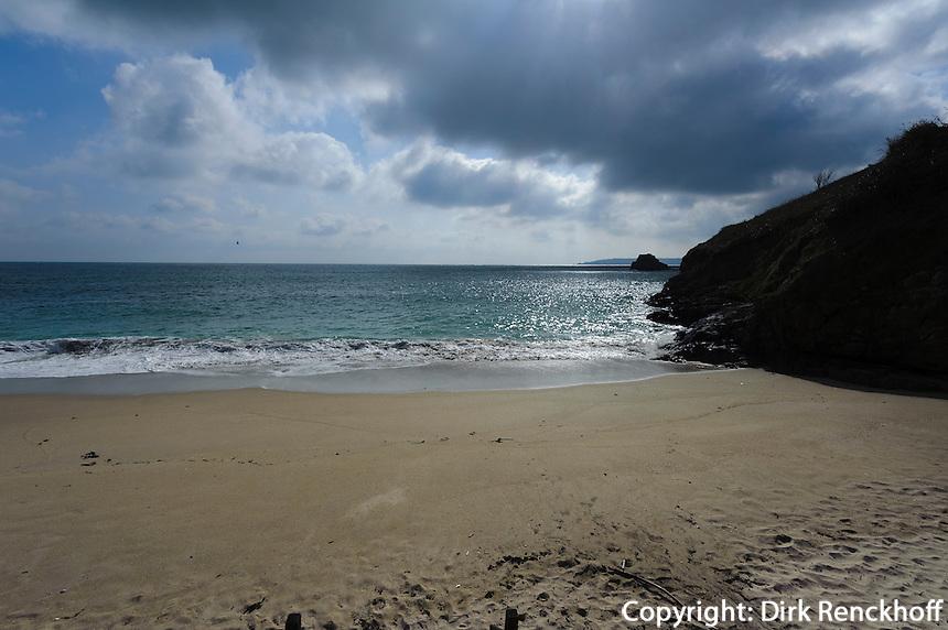 Strand an der Belvoir Bay, Insel Herm, Kanalinseln