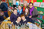 Pictured presenting projects as part of their Blue Flag award at St Mary' school, Knocknagoshel on Friday afternoon were: Darren Lane, Sean Mangan, Niall O'Shea, Shania Griffin, Joan Browne, Joanna Browne and Joan O'Shea.