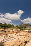 Samaria, ruins of the Byzantine Churches and a Muslim structure in Tel Shiloh