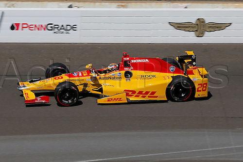 27.05.2016. Indianapolis, IN, USA.  Indycar driver Ryan Hunter-Reay (28) during Carb Day for the 100th running of the Indianapolis 500 in Speedway, IN.