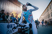 Bob Jungels (LUX/Quick-Step Floors) after finishing<br /> <br /> MEN ELITE INDIVIDUAL TIME TRIAL<br /> Hall-Wattens to Innsbruck: 52.5 km<br /> <br /> UCI 2018 Road World Championships<br /> Innsbruck - Tirol / Austria