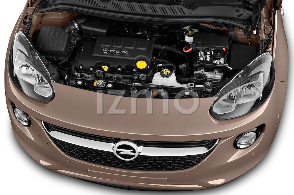 High angle engine detail of a  2013 Opel Adam Glam Hatchback2013 Opel Adam Glam Hatchback