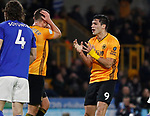 Raul Jimenez of Wolverhampton Wanderers recast after heading wide during the Premier League match at Molineux, Wolverhampton. Picture date: 14th February 2020. Picture credit should read: Darren Staples/Sportimage