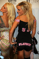 "Stars of ""The Girls Next Door"" Holly Madison, left, and Bridget Marquardt pose at Playboy's ninth annual ""Super Saturday Night""  party in at Playboy's Desert Oasis and Resort in Chandler, Arizona Saturday February 2, 2008.   (Photo by Alan Greth)"