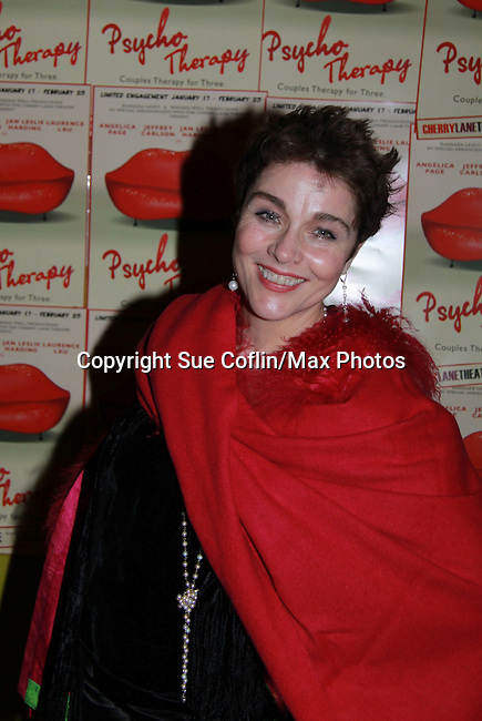 Another World's Christine Andreas (Dr. Taylor Benson) attends Psycho Therapy on February 7, 2012 at the Cherry Lane Theatre, New York City, New York. After party at Sushi Samba, NYC. (Photo by Sue Coflin/Max Photos)