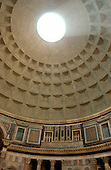 """Rome, Italy - April 4, 2006 -- View of the oculus in the dome of the Pantheon, the """"temple of all the gods"""", in Rome, Italy on Tuesday, April 4, 2006.  The oculus was the only light source for the building. The Pantheon is the best preserved of all of Rome's ancient building.  It is believed to have been built in the first century AD by the Emperor Hadrian..Credit: Ron Sachs / CNP"""
