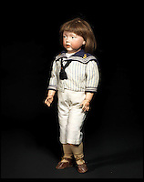 BNPS.co.uk (01202 558833)<br /> Pic: Bonhams/BNPS<br /> <br /> ***Please Use Full Byline***<br /> <br /> Kammer &amp; Reinhardt 112 'Walter'  Bisque head charcter doll. <br /> &pound;4000 - 6000.  <br /> <br /> A creepy collection of almost 100 'lifelike' dolls modelled on children has emerged for sale with a whopping half a million pounds price tag. <br /> <br /> The eerie-looking toys were made in Germany in the early 20th century as dollmakers strived to produce dolls with realistic human features.<br /> <br /> The collection of 92 dolls, which includes some of the rarest ever made, has been pieced together by a European enthusiast over the past 30 years.<br /> <br /> It is expected to fetch upwards of &pound;500,000 when it goes under the hammer at London auction house Bonhams tomorrow (Weds).