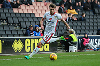 Robbie Muirhead of MK Dons during the Sky Bet League 1 match between MK Dons and AFC Wimbledon at stadium:mk, Milton Keynes, England on 13 January 2018. Photo by David Horn.