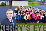 Tom Williams Barradubh National School Principal with his pupils, staff and parents protesting against the education cuts proposed by the  government in the budget   Copyright Kerry's Eye 2008