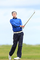 Eugene Smith (Ardee) on the 12th tee during Round 3 of The Irish Amateur Open Championship in The Royal Dublin Golf Club on Saturday 10th May 2014.<br /> Picture:  Thos Caffrey / www.golffile.ie