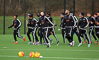Pictured: Players warming up Wednesday 23 December 2015<br />