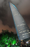 China's tallest building in 2010, second-tallest building in the world, the Shanghai China World Financial Center (SWFC) is a super-tall skyscraper in Pudong, Shanghai, China. The building stands at 492 meters, is mixed use skyscraper which consists of offices, hotels,conference rooms, observation decks, and shopping malls on the ground floors.  The SWFC has been lauded for its design and was named by architects as the best skyscraper completed in 2008..