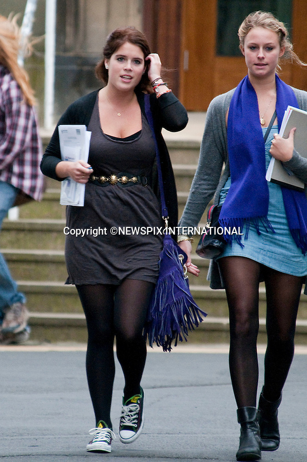 """PRINCESS EUGENIE.arrives for her first day at Newcastle University, sporting converse trainers. The Princess is taking Combined Studies - English Literature, History of Art and Politics. Newcastle,_24/09/2009..Mandatory Photo Credit: ©Dias/Newspix International..**ALL FEES PAYABLE TO: """"NEWSPIX INTERNATIONAL""""**..PHOTO CREDIT MANDATORY!!: NEWSPIX INTERNATIONAL(Failure to credit will incur a surcharge of 100% of reproduction fees)..IMMEDIATE CONFIRMATION OF USAGE REQUIRED:.Newspix International, 31 Chinnery Hill, Bishop's Stortford, ENGLAND CM23 3PS.Tel:+441279 324672  ; Fax: +441279656877.Mobile:  0777568 1153.e-mail: info@newspixinternational.co.uk"""