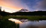 Mount Rainier at sunrise, Mount Rainier National Park, Washington