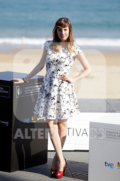 "Actress Natalia de Molina posses in the photocall of the ""Vivir es facil con los ojos cerrados"" film presentation during the 61 San Sebastian Film Festival, in San Sebastian, Spain. September 24, 2013. (ALTERPHOTOS/Victor Blanco)"