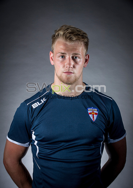Picture by Allan McKenzie/SWpix.com - 29/06/16 - Rugby League - England Rugby League Academy Headshots - Challenge4Change, Manchester, England - Owen Farmworth.