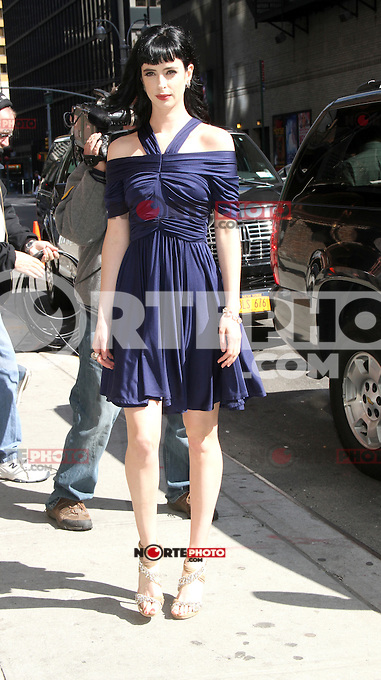 May 01, 2012 Krysten Ritter at Late Show with David Letterman in New York City. Credit: RW/MediaPunch Inc.