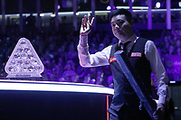12th January 2020, Alexandra palace, London, United Kingdom; Ding Junhui of China arrives for the round 1 match between Ding Junhui of China and Joe Perry of England at Snooker Masters 2020 at the Alexandra Palace . Perry won 6 frames to 3.