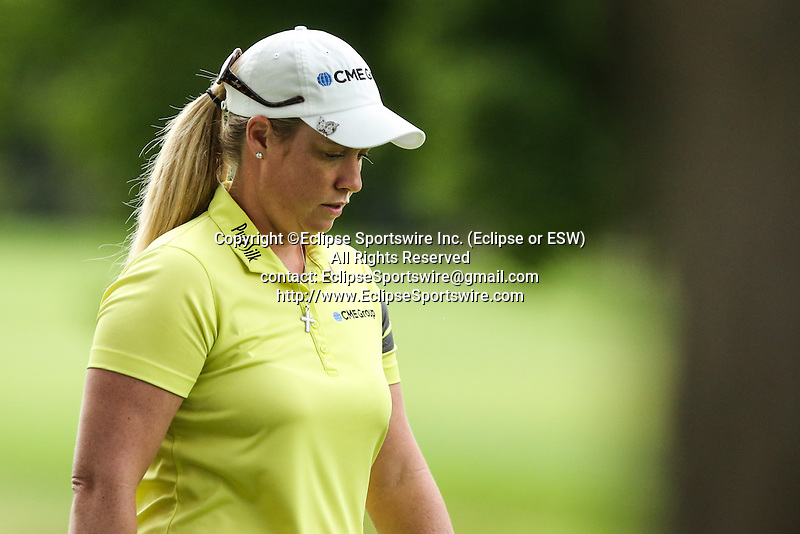 Brittany Lincicome walks to the 3rd green at the LPGA Championship 2014 Sponsored By Wegmans at Monroe Golf Club in Pittsford, New York on August 16, 2014
