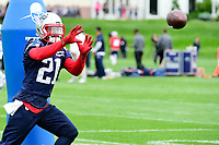 June 7, 2017: New England Patriots cornerback Malcolm Butler (21) catches the ball at the New England Patriots mini camp held on the practice field at Gillette Stadium, in Foxborough, Massachusetts. Eric Canha/CSM